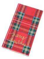 Merry Christmas Plaid Guest Towel