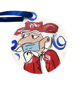 Ole Miss Mask Disc Ornament