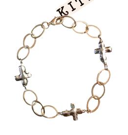 Kitzi Silver Cross Bracelet