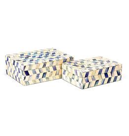 Marine Blue Bone Box