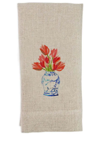 Ginger Jar w/ Tulips Dishtowel