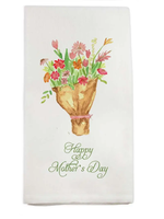 Mother's Day Bouquet Dishtowel
