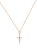 Madeline Gold Cross Necklace