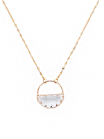 Melania Clara Ella Gold Clear Necklace