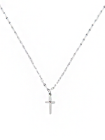 Belen Silver Cross Necklace