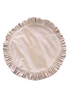 Ruffle Velvet Placemat Dusty Pink