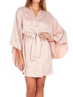 April Charmuese Kimono Shell Pink