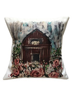 Springtime Barn Pillow