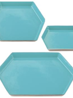 Hexagon Tray Teal