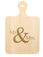 Maple Artisan Board 12x8 Mr and Mrs