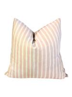 Pale Pink Stripe Pillow 26x26