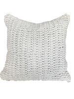 Woven Rope Decorative Pillow with Feather Insert 22x22