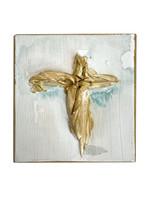 "Cross on Wood Block 5.5"""