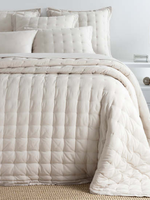 Cotton Natural Puff Coverlet - King