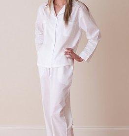 Christine White Pajamas with Edging Detail