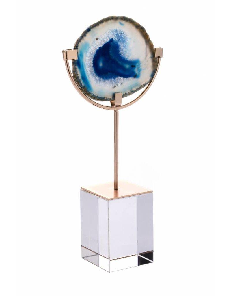Blue Agate on Acrylic Box