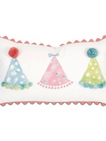 Party Hats Hand-Painted Pillow