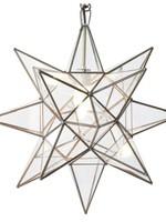 "15"" Medium Clear Glass Star Chandelier"