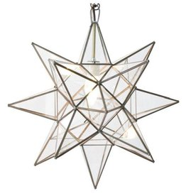 "15"" Medium Clear Glass Star Chandelier"