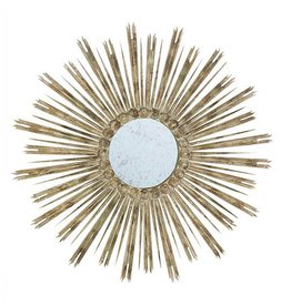 Skovde White/Wood Mirror