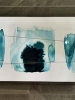 """Ink Palette"" Beth Winterburn art in acrylic frame 20x8"