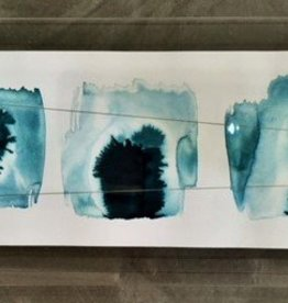 """Ink Palette"" Beth Winterburn art in acrylic frame 20x8"