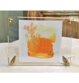 """Sherbet"" & ""Smoke"" Beth Winterburn art acrylic frame 7x9"