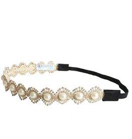 HOH Gold Dainty Pearl Headband
