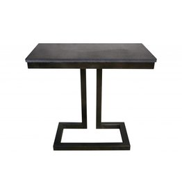Alonzo Side Table with Stone
