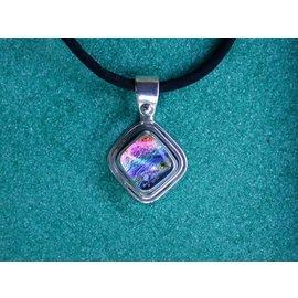 Dichroic Glass Pastel Rainbow Pendant