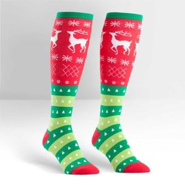 TACKY HOLIDAY SWEATER - KNEE SOCKS