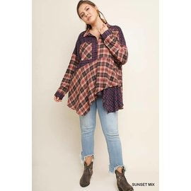 PLUS MULTI PLAID TUNIC