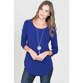L/S ROUND NECK TOP ROYAL