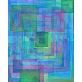 BLUE QUILT ART PRINT
