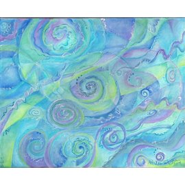 SWIRLING SKY AND WATER ART PRINT