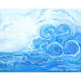 DEEP BLUE WAVES ART PRINT