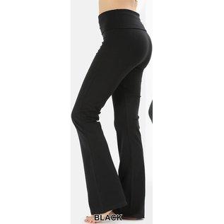 Fold-over Yoga Pants Black