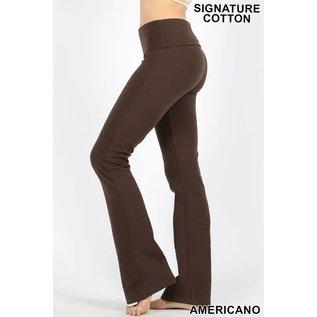 Fold-over Yoga Pants Brown
