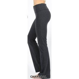Fold-over Yoga Pants Charcoal
