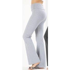 Fold-over Yoga Pants Heather Grey