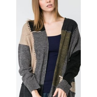 OLIVE PATCHES CARDIGAN