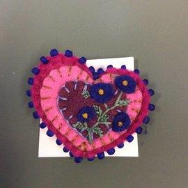 ELFLAND PURPLE FLOWER HEART PIN
