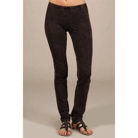 MINERAL WASH LEGGINGS BROWN