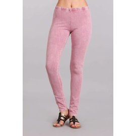 MINERAL WASH LEGGINGS ROSE PINK