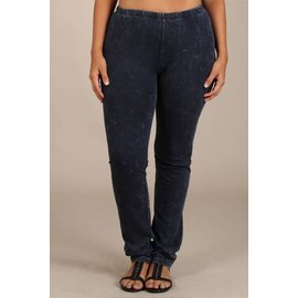 PLUS MINERAL WASH LEGGINGS CHARCOAL NAVY