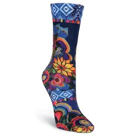 Laurel Burch Beautiful Garden Cat socks