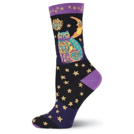 Laurel Burch Celestial Cat socks