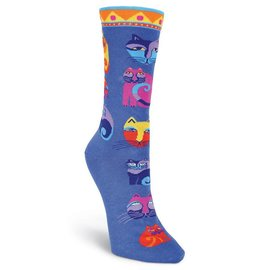 Laurel Burch Colorful Little Cats socks