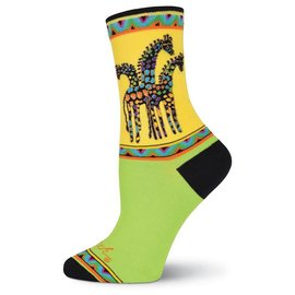 Laurel Burch Rainbow Giraffes Socks