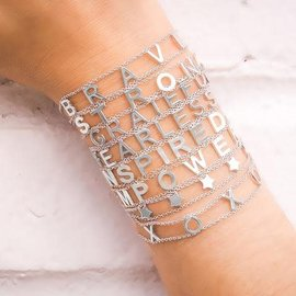 EMPOWERED WARRIOR SILVER BRACELET